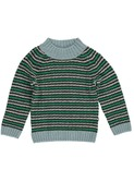 Ford rib sweater green stripes | Kidscase