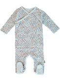 baby kruippakje - Fanny organic suit NB - lichtblauw