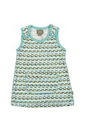 Travis organic babydress green