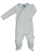 baby kruippakje - Becca organic suit NB - lichtblauw