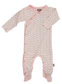 baby kruippakje - Becca organic NB suit roze