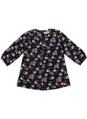 dressblouse woven black/purple | Kik-kid outlet