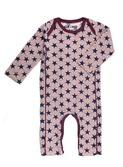 baby kruippakje - Suit print Star - old pink