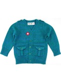cardigan boys knit green/blue  | Kik-kid