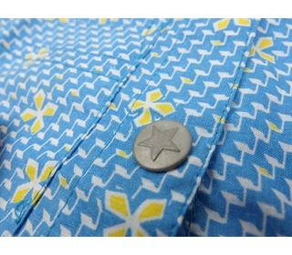 shirt woven print blue   Kik-kid outlet