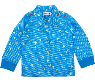 shirt woven print blue | Kik-kid outlet