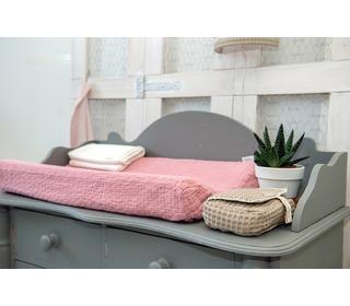 aankleedkussenhoes Elba water pink - Koeka
