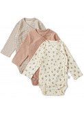 Nuevo 3 pack New Born Body - petit amour/striped/blush