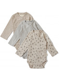 Nuevo 3 pack New Born Body - petit amour/striped/blue