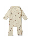 New born onesie - poire