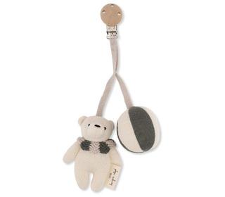 Bear pram toy - Ivy green - Konges Sløjd