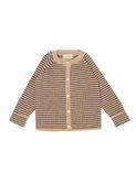 Meo cardigan - white cream mel/navy stripe