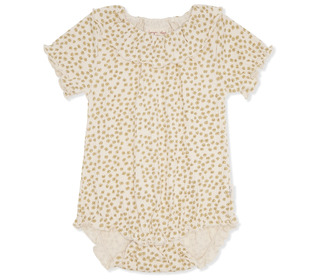 Chleo short sleeve body - buttercup yellow - Konges Sløjd