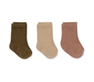 3 pack pointelle socks - brush/moonlight/breen - Konges Sløjd