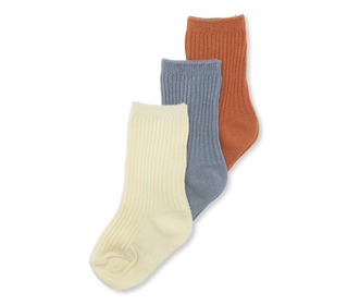 3 pack rib socks - bisquit/quarry blue/lemon sorbet - Konges Sløjd
