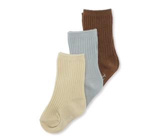 3 pack rib socks - breen/mint/sahara sun - Konges Sløjd