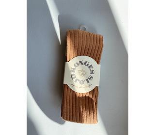 Rib stockings - bisquit - Konges Sløjd