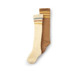 2 pack knee socks - breen/lemon sorbet - Konges Sløjd