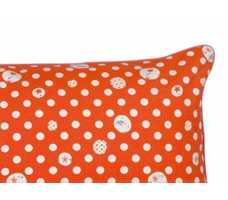 kussen oranje polka dots   Lalé