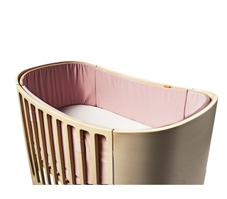 Cot Bumper - soft pink - Leander