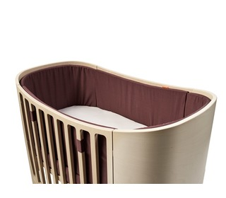 Cot Bumper - warm purple - Leander