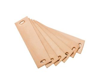 Handvat leder Leander dressoir - natural , 6 st. - Leander