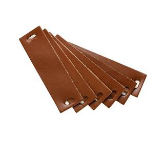 Handvat leder Leander dressoir - brown , 6 st. - Leander