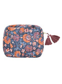 Pouch Marya - charchoal bohemian flowers