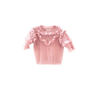 Ruffle sweater Pale pink | Longlivethequeen