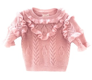 Ruffle sweater Pale pink - Longlivethequeen