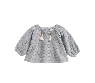 Blouse Caimite Silver Cloud Flower Lace - Louise Misha