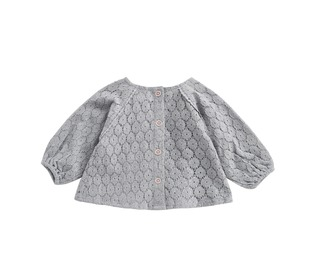 Blouse Caimite Silver Cloud Flower Lace│Louise Misha