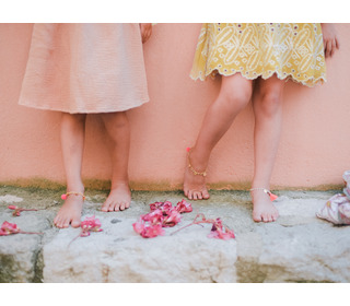 Bracelet - Ankle Padma Pink Fluo - Louise Misha