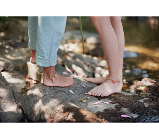 Bracelet - Ankle Piki Blush - Louise Misha