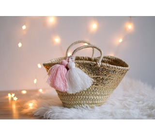 Small basket Sacha glitter cream - Louise Misha