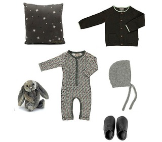 Tad baby cardigan dark green | Kidscase