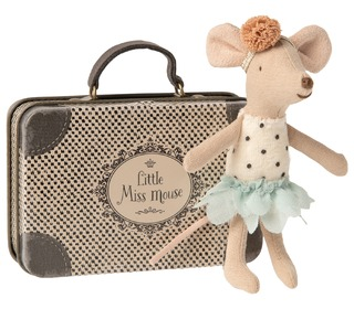 Mouse, Little sister - in suitcase - Maileg