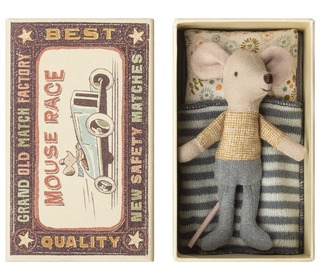 Mouse, Little brother in box  - Maileg
