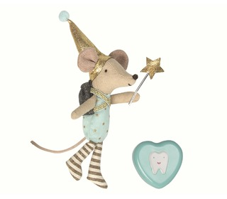 Mouse, Tooth Fairy in box, boy & metal heart - Maileg