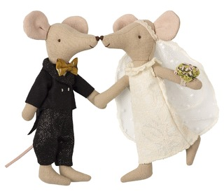 Wedding mice couple in box - Maileg