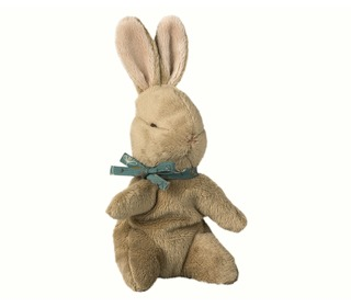 Baby bunny, brown w. blue ribbon - Maileg