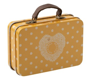 Metal suitcase - yellow dot - Maileg