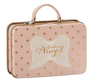Metal suitcase rose, gold dots - Maileg
