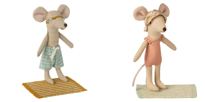 Maileg • Beach set for big sister and brother mouse