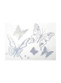muurstickers papillon gris metalic