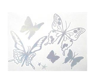 muurstickers papillon gris metalic - Mimi'lou