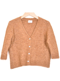 Elena fuzzy camello girls cardigan | Morley for kids