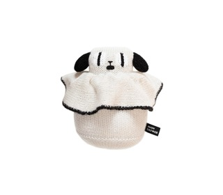Rolly Poly Puppy, black/white - Main Sauvage