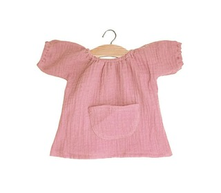 Robe Jeanne en coton double - gaze rose - Minikane