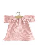 Robe Jeanne en coton double gaze - rose tendre